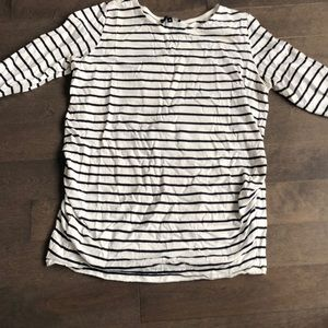 Tops - 3/4 length striped maternity top